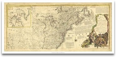 Antique Map Of America IV preview