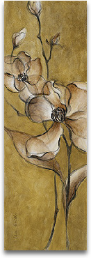 Translucent Magnolias On Gold preview