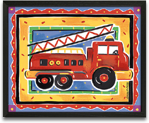 Fire Engine 10x8 preview
