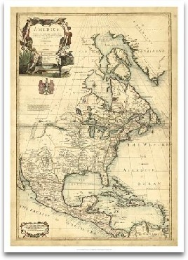 Antique Map Of America III preview