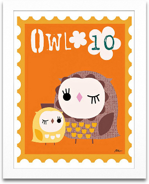 Owl Animal Stamp 8x10 preview