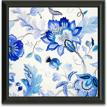 12x12 Blue Floral preview