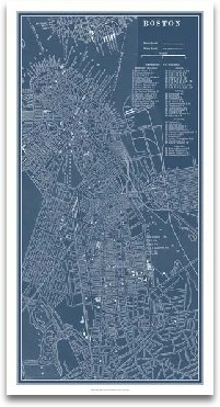 Graphic Map Of Boston preview