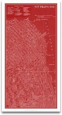 Graphic Map Of San Francisco preview