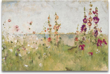 Hollyhocks By The Sea preview