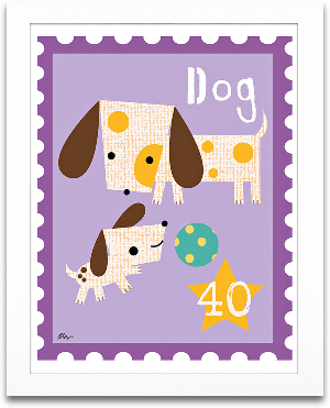 Dog Animal Stamp 8x10 preview