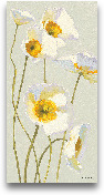 White On White Poppi...<span>White On White Poppies Panel I  - 12x24</span>