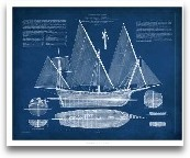 Antique Ship Bluepri...<span>Antique Ship Blueprint III</span>