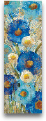 Sunkissed Blue And W...<span>Sunkissed Blue And White Flowers II - 12x36</span>