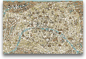 Monuments Of Paris M...<span>Monuments Of Paris Map - Blue 36x24</span>