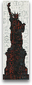Statue Of Liberty - ...<span>Statue Of Liberty - Red 12x36</span>