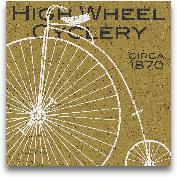 High Wheel Cyclery -...<span>High Wheel Cyclery - 12x12</span>