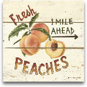 Fresh Peaches-6x6