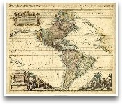 Antique Map Of Ameri...<span>Antique Map Of America II</span>