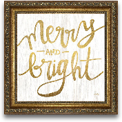 12x12 Merry And Brig...<span>12x12 Merry And Bright Framed Art</span>