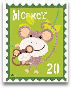 Animal Stamps - Monkey