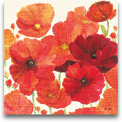 Red And Orange Poppi...<span>Red And Orange Poppies I - 27x27</span>