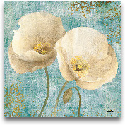 Poppies On Paisley -...<span>Poppies On Paisley - 18x18</span>