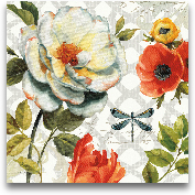 Floral Story II On G...<span>Floral Story II On Grey - 16x16</span>