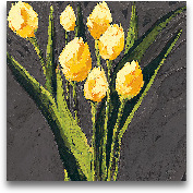 Yellow Tulips On Gra...<span>Yellow Tulips On Gray Square - 27x27</span>