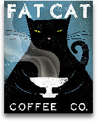 Cat Coffee No City -...<span>Cat Coffee No City - 11x14</span>