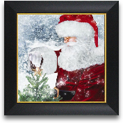 12x12 Santa Tree Sta...<span>12x12 Santa Tree Star Framed Art</span>