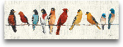 The Usual Suspects -...<span>The Usual Suspects - Birds On A Wire - 36x12</span>
