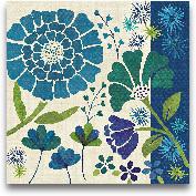 Blue Garden II - 18x18