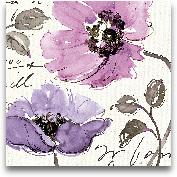 Floral Waltz Plum I ...<span>Floral Waltz Plum I - 18x18</span>