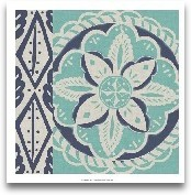 Blue Batik Tile IV