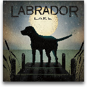 Moonrise Black Dog -...<span>Moonrise Black Dog - Labrador Lake - 18x18</span>