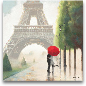 Paris Romance II - 18x18