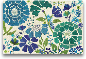 Blue Garden - 36x24