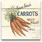 Farm Fresh Carrots-6x6