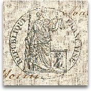 Letter Crest V - 12x12