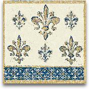 Regal Fleur De Lis I...<span>Regal Fleur De Lis Indigo And Cream - 12x12</span>