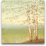 Golden Birch II With...<span>Golden Birch II With Blue Sky - 24x24</span>