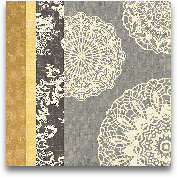 Contemporary Lace I ...<span>Contemporary Lace I - Yellow Grey 18x18</span>