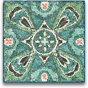 Tuscan Tile Blue Gre...<span>Tuscan Tile Blue Green III - 12x12</span>