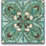 Tuscan Tile Blue Gre...<span>Tuscan Tile Blue Green I - 12x12</span>
