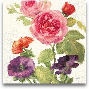 Watercolor Floral II...<span>Watercolor Floral III - 18x18</span>