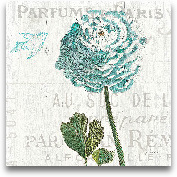 Floral Messages On W...<span>Floral Messages On Wood II Blue - 18x18</span>