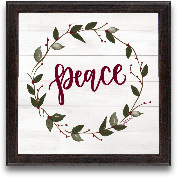 12x12 Peace Framed Art