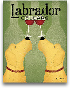 Two Labrador Wine Do...<span>Two Labrador Wine Dogs - 11x14</span>