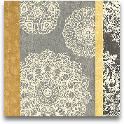 Contemporary Lace II...<span>Contemporary Lace II - Yellow Grey 18x18</span>