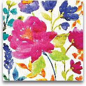 Floral Medley II - 18x18