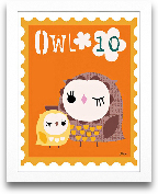 Owl Animal Stamp 8x10