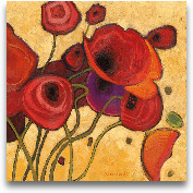 Poppies Wildly II 18x18
