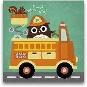 Owl In Firetruck And...<span>Owl In Firetruck And Squirrel</span>