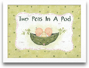 Two Peas In A Pod 16x12